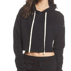 ALO YOGA Cropped Hoodie--Size SMALL